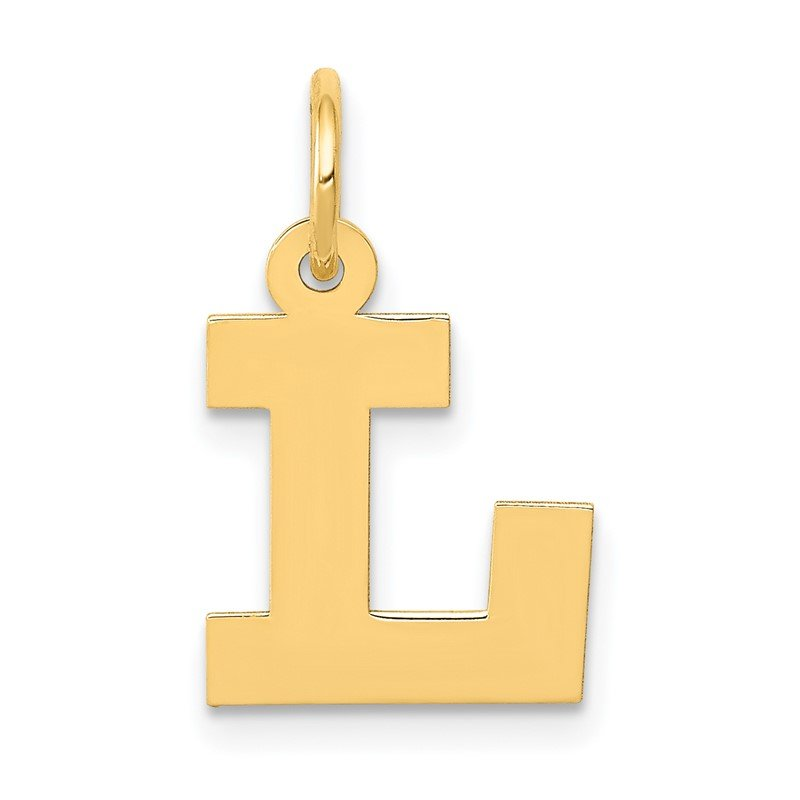 Quality Gold 14k Small Block Letter L Initial Charm