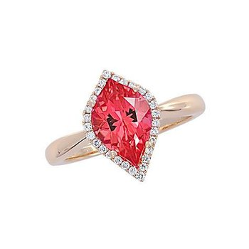 Padparadscha Ring-CR10426YPD