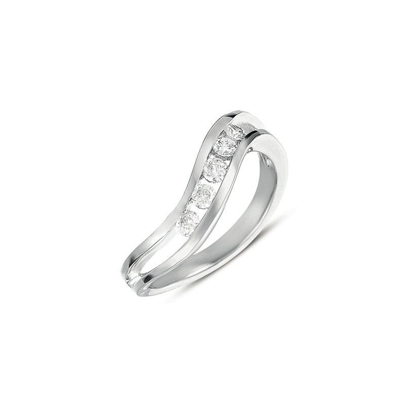S. Kashi  & Sons Channel Set Diamond Ring