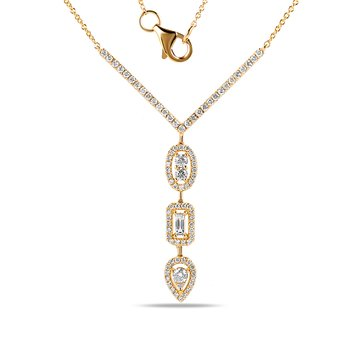 "14K ""Y"" Necklace with 0.52C Diamonds"