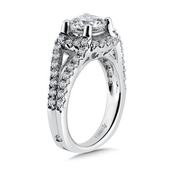 Luxury Collection Engagement Ring With Diamond Side Stones in 14k White Gold (1-1/2ct. tw.)