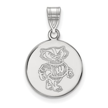 Sterling Silver University of Wisconsin NCAA Pendant