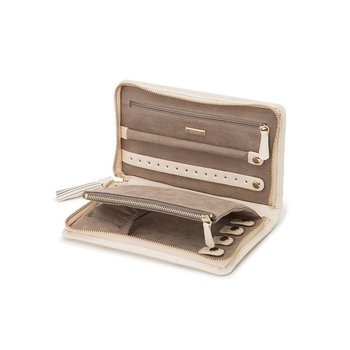 Caroline Jewelry Portfolio, ivory leather