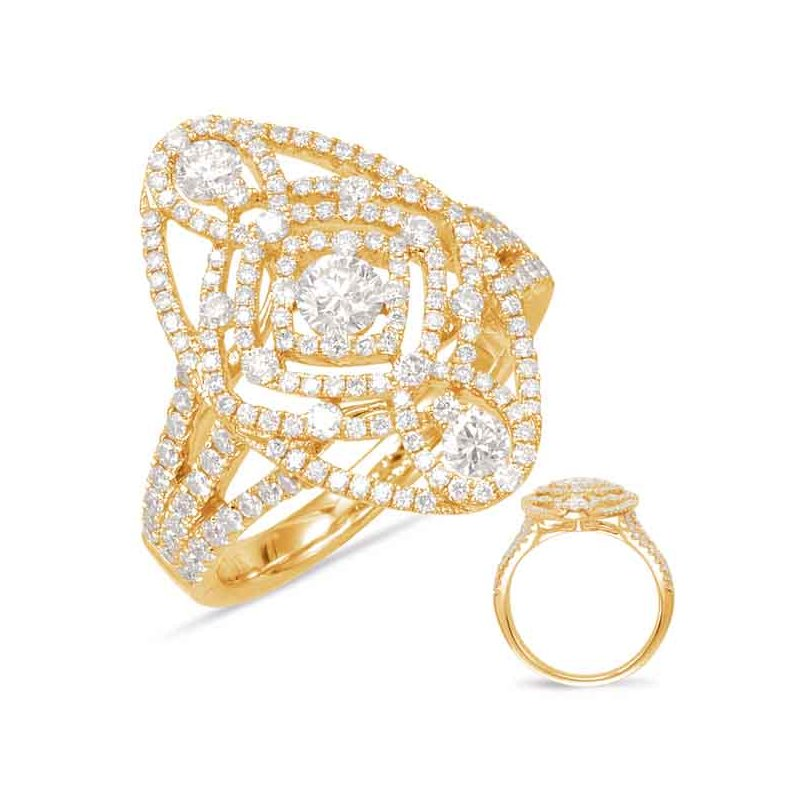 S. Kashi  & Sons Yellow Gold Fashion Ring