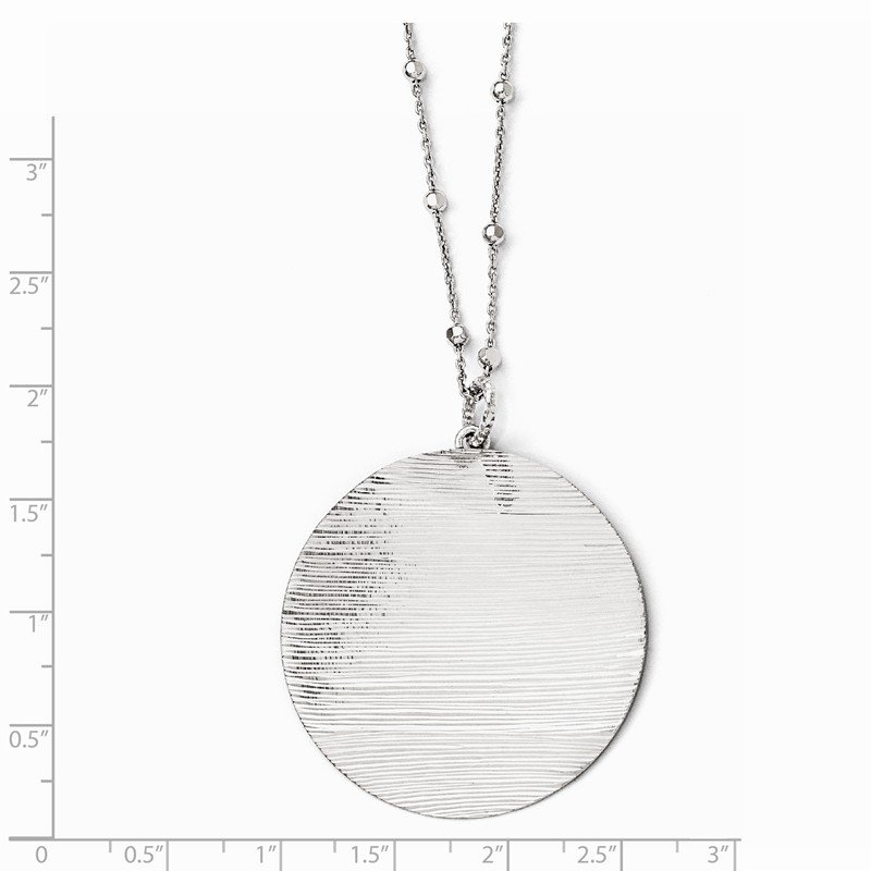 Leslie's Leslie's SS Radiant Essence Rhodium-plated D/C Necklace w/2in ext