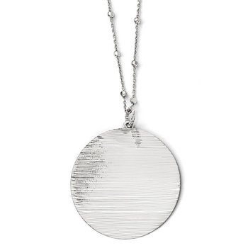 Leslie's SS Radiant Essence Rhodium-plated D/C Necklace w/2in ext