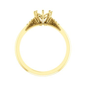 18K Yellow 8x6 mm Oval 8-Prong Engagement Ring Mounting