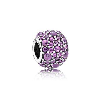 Shimmering Droplets Charm, Fancy Purple CZ
