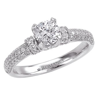 Classic Palladium Diamond Ring