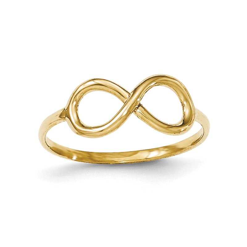 Quality Gold 14k Polished Infinity Ring