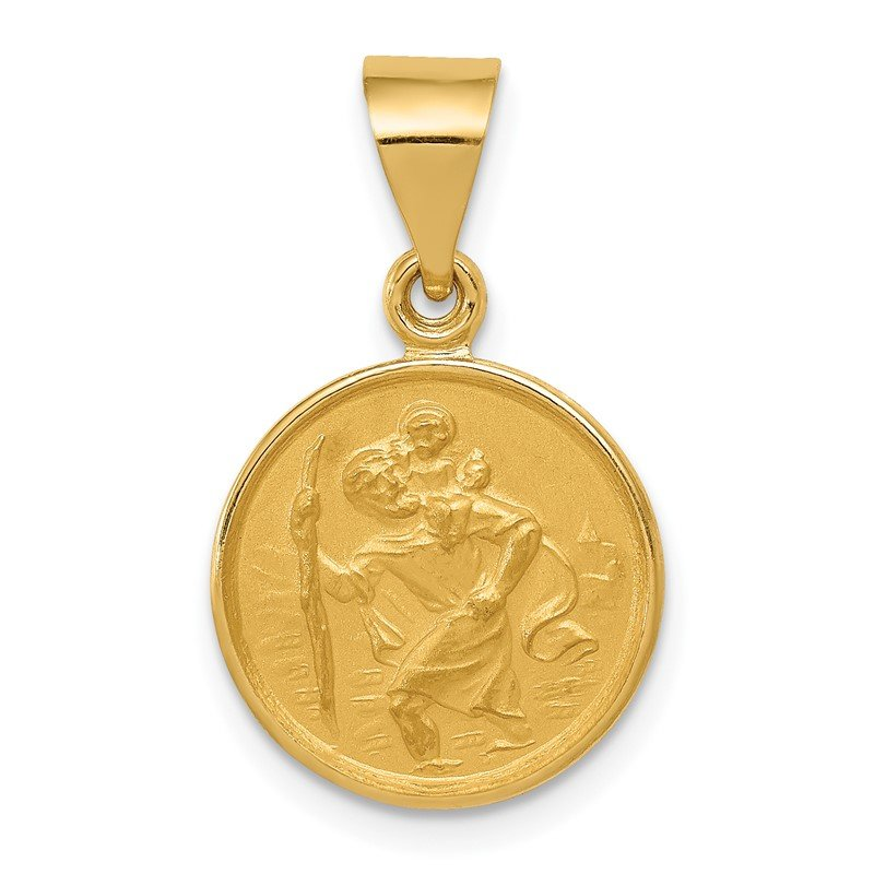 Quality Gold 18k Saint Christopher Medal Pendant