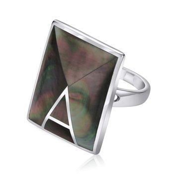 Rectangular Mother of Pearl Ring