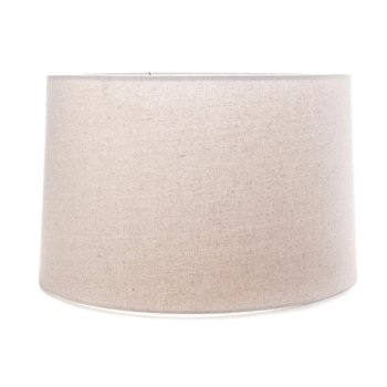 Linen Barrel Shade - Natural - 15 Inch