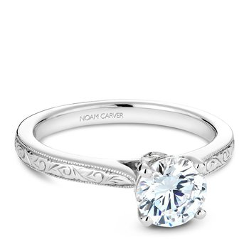 Noam Carver Vintage Engagement Ring B140-02EA