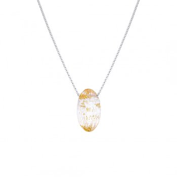 Lucite Oval Pendant
