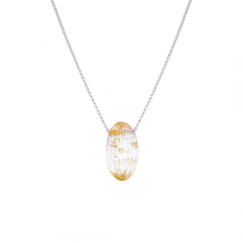 LARUS Jewelry Lucite Oval Pendant