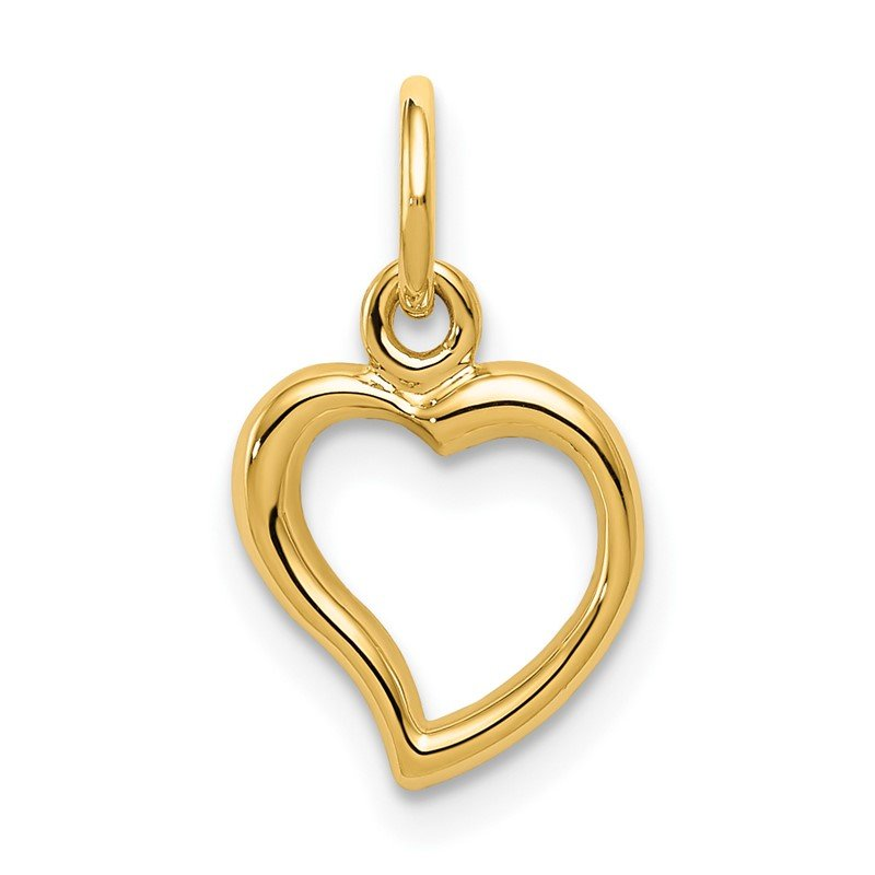 Quality Gold 14K Polished Heart Pendant