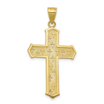 10k Passion Cross Pendant