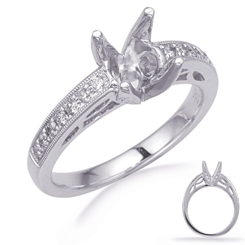 S. Kashi & Sons Bridal White Gold Diamond Engagement Ring