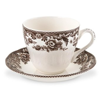 Set of 4 Teacups and Saucers