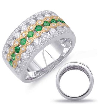 Yellow White Tsavorite & Diamond Ring