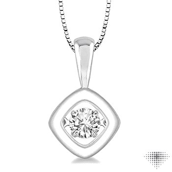 Asscher Shape Emotion Diamond Pendant