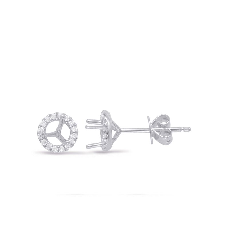 S. Kashi  & Sons Three Prong Earring Setting .50ct TW