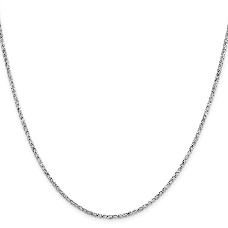 Leslie's Leslie's 14K White Gold 2.1mm D/C Open Franco Chain