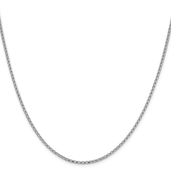 Leslie's 14K White Gold 2.1mm D/C Open Franco Chain