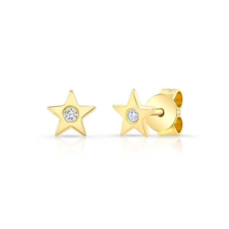 Robert Palma Designs Yellow Gold Petite Star Studs