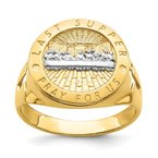 Quality Gold 14K w/Rhodium The Last Super Men's Ring