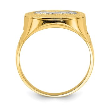 14K w/Rhodium The Last Super Men's Ring
