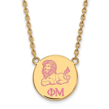 Gold-Plated Sterling Silver Phi Mu Greek Life Necklace