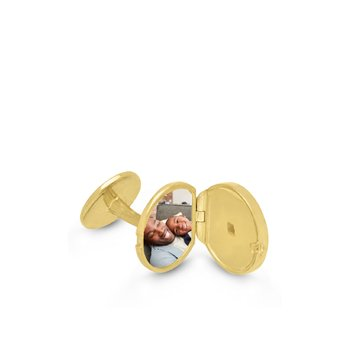 Ryan Locket Cufflinks Gold