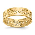 Quality Gold 14k Polished Celtic Knot Band
