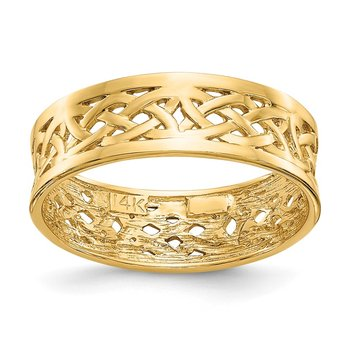 14k Polished Celtic Knot Band