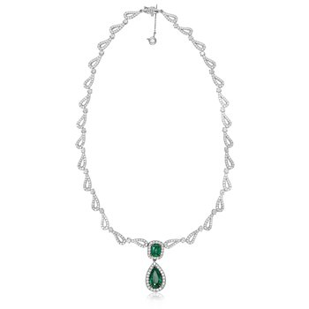 Ornate Emerald Drop Necklace
