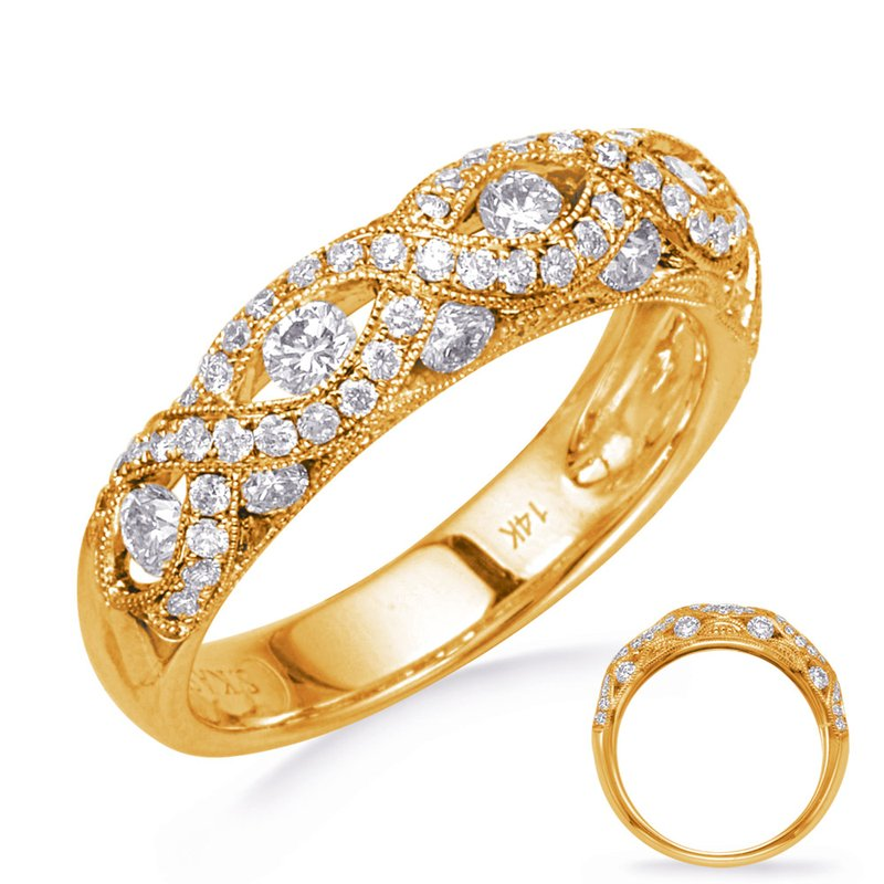 S. Kashi & Sons Bridal Yellow Gold Diamond Fashion Band