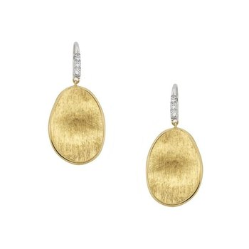 Lunaria Gold & Diamond Pave Small Drop Earrings