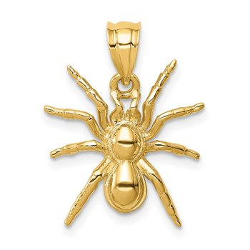 14K Polished Spider Pendant