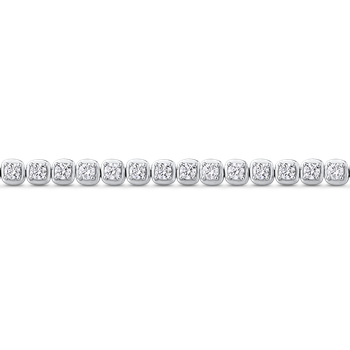 4.29 ct Round White Diamond Gold Tennis Bracelet