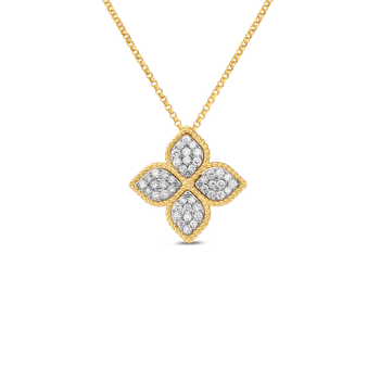 Large Pendant With Diamonds &Ndash; 18K Yellow Gold