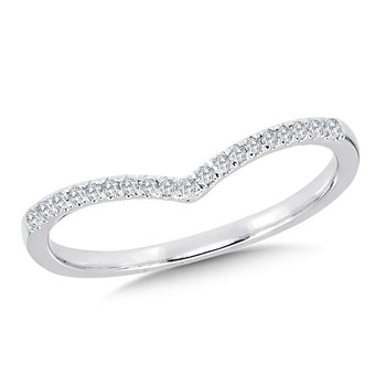 Diamond Enhancer Chevron Wedding Band