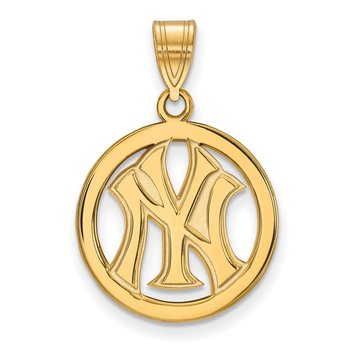 Gold-Plated Sterling Silver New York Yankees MLB Pendant