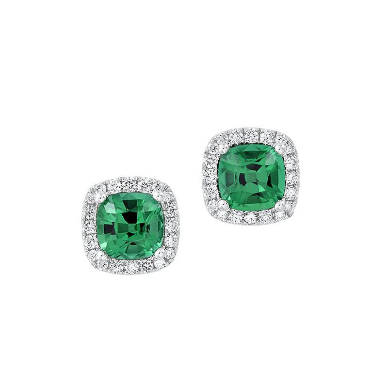 Chatham Emerald Earrings-CE4204WEM