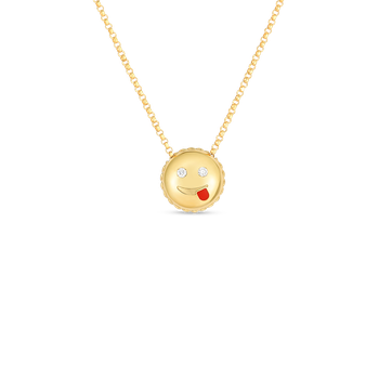 Joke Emoji Pendant With Diamonds