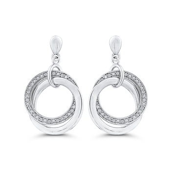 Round 1/5 ct Diamond Fashion Drop Earrings