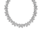 Roberto Coin 18KT GOLD WIDE LINK COLLAR WITH DIAMONDS