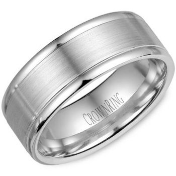 CrownRing Men's Wedding Band WB-7134SP