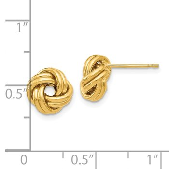 Leslies 14k Polished Love Knot Post Earrings